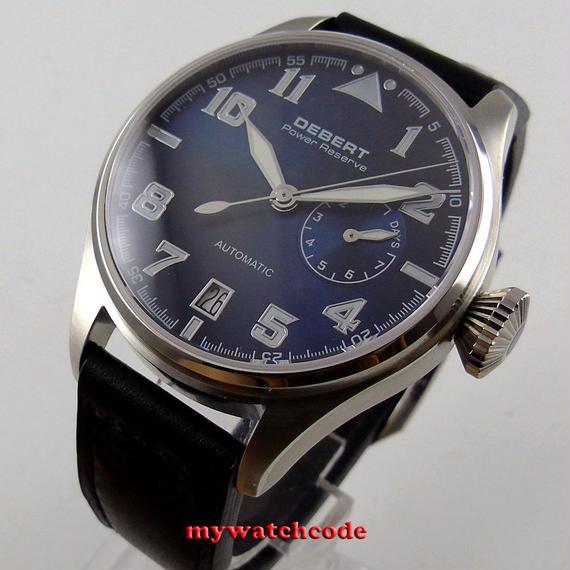 【送料無料!】DEBERT パワーリザーブ 腕時計 海外高級ブランド 自動巻き サファイアガラス 国産ムーブメント【新品】
