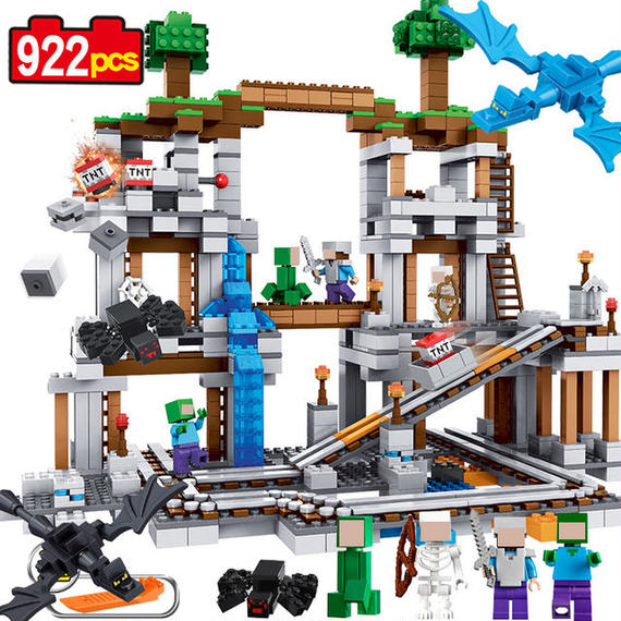 【送料無料!】レゴ風 マインクラフト エスパーダ ブロック鉱山 ミニフィグ セット【新品】
