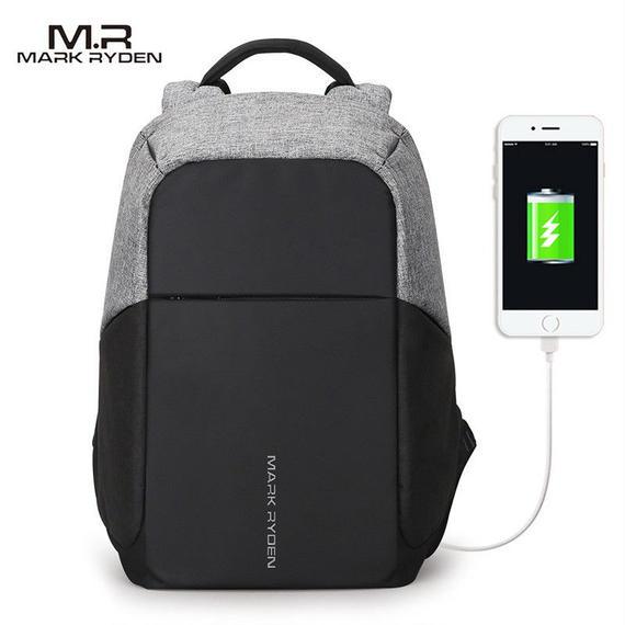 【送料無料!】便利な多機能バッグ MARK RYDEN 大容量ストレージバッグ 外部USB端子付き(海外から直送)【新品】
