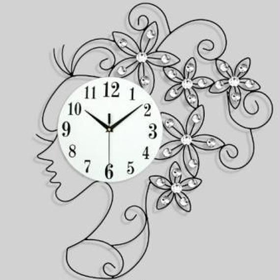 輸入新品!美しい横顔女の子クリスタルの髪飾り付きクォーツ時計