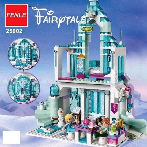 Lepin 雪の世界シリーズ☆エルザの魔法アイス城 組立て ブロック 女の子 お城 ままごと