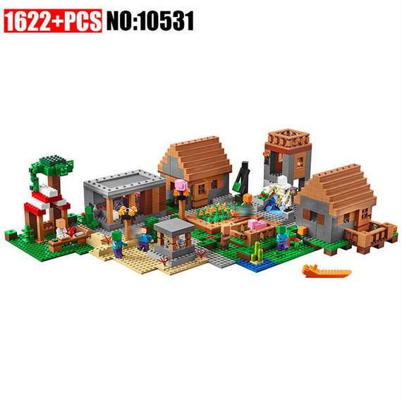 【送料無料!】【新品】レゴ風 LEGO互換 マインクラフト ビレッジ 21128風 マイクラ【新品】