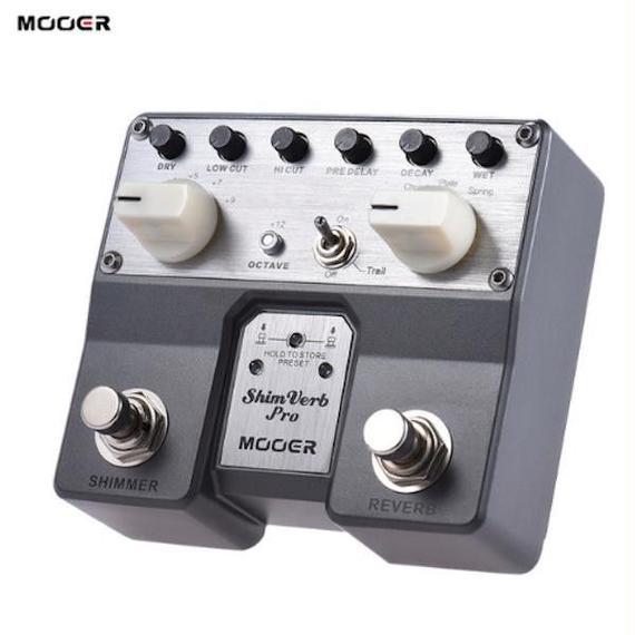 MOOER ShimVerb デジタルエフェクトギターペダルフットスイッチ
