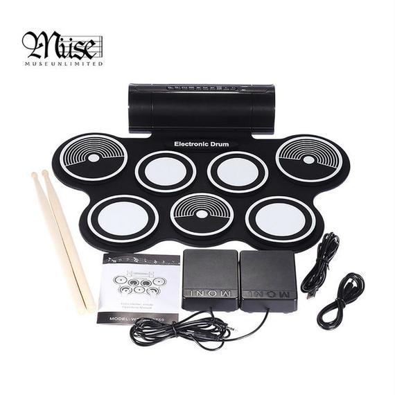 【送料無料!】ロールアップ電子ドラム スピーカー内臓&USB MIDI【新品】