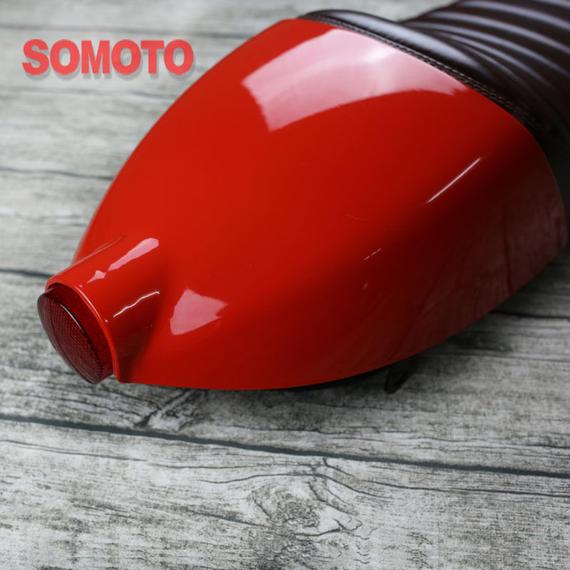 【最高級】テールランプ付き カフェレーサー シート SR400/500 W400 GB250 250TR ST250 グラストラッカー GN125 CG125 YB125SP CB1100 XSR9
