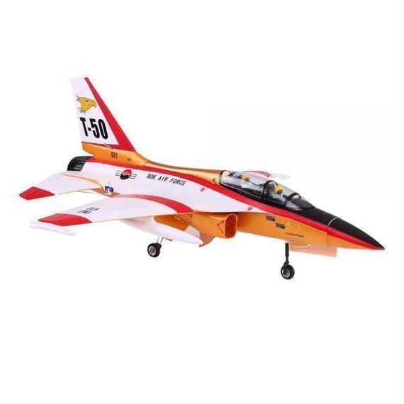 【送料無料!】ユニークなT-50ドローン820ミリメートル全幅70ミリメートルEDFジェットトレーナーEPO航空機RC飛行機PNPバージョン【新品】