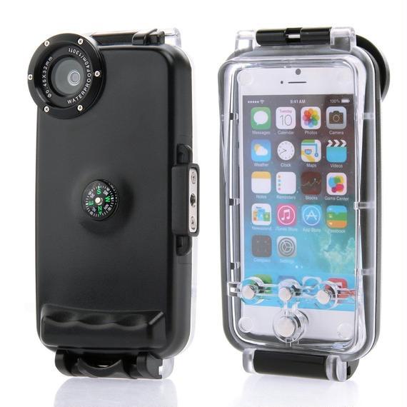 【送料無料!】 iPhone 6(6s)  ダイビングケース 防水 潜水 防雪 防塵 耐衝撃 アイフォン アイホン スマホケース   【新品】
