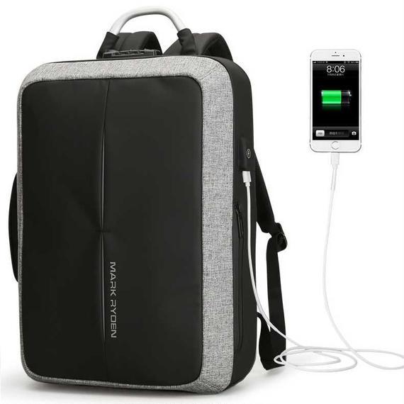 【送料無料!】便利な多機能バッグ MARK RYDEN 2ウェイバッグ 外部USB端子付き(海外から直送)【新品】