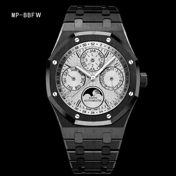 【送料無料!】日本未発売◆DIDUN 自動巻き 機械式腕時計 ミリタリー ムーンフェイズ 日本ミヨタ製ムーブ搭載 防水 MP-BBFW【新品】