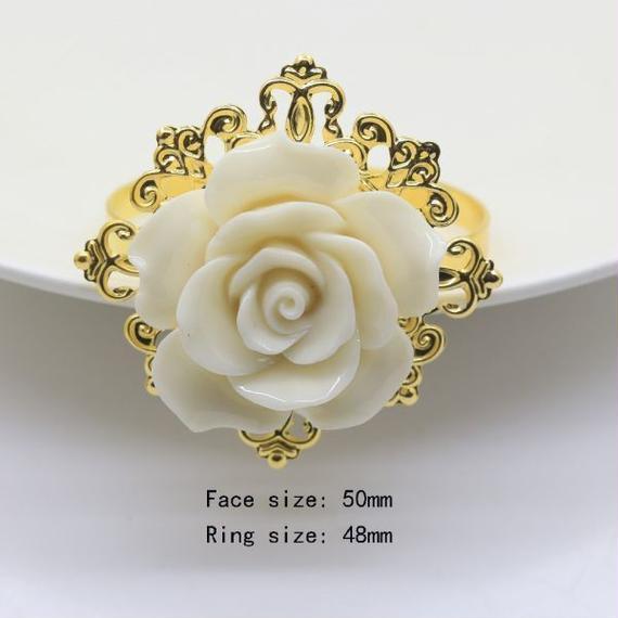 【送料無料!】100個セット ゴーデンナプキンリング ロマンチックな結婚式のナプキンリング【新品】