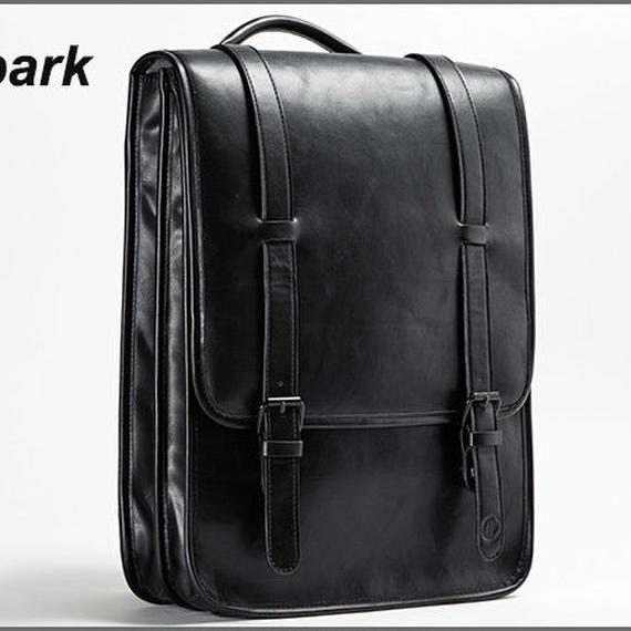 【送料無料!】dpark メンズ リュック・デイバッグ 15.6インチPC 合成皮革 黒【新品】