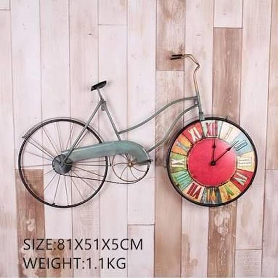 輸入新品!アメリカクリエイティブ レトロサイクル壁時計