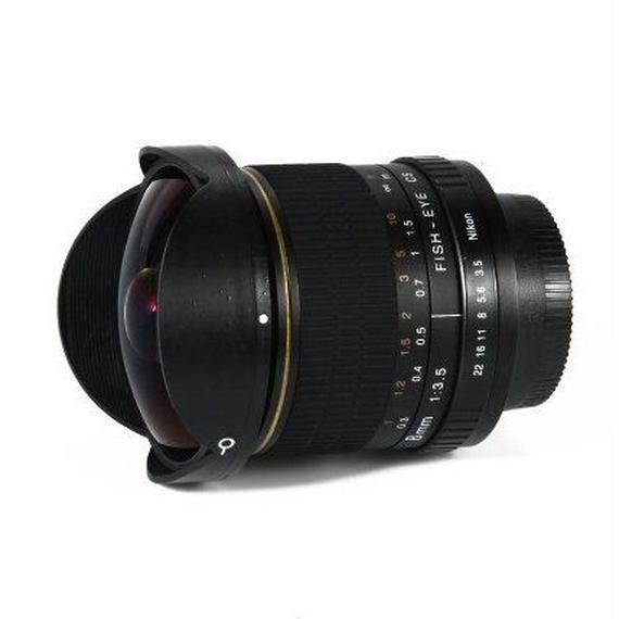 【送料無料!】Ali24  ニコン用 魚眼レンズ 広角レンズ 超広角 8ミリメートルf/3.5 一眼レフ デジタル d3100 d3200 d5200 d5500 等【新品】