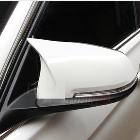 【送料無料!】BMW F20 F22 F30 F31 F34 F32 F33 F36 E84 X1 M3M4 look ミラー カバー 交換 M タイプ 社外品 白 ホワイト【新品】