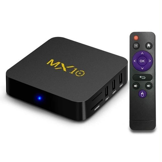 【送料無料!】MX10 Android 7.1.2 TV Box RK3328 4GB/32GB 4K VP9 H.265 DLNA Miracast Airplay WiFi LAN HD 【新品】