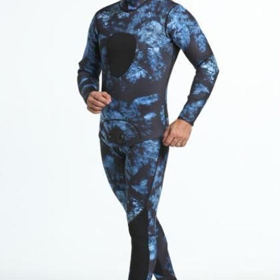 【送料無料!】オマー風ウェットスーツ 販売 業務用 魚突き 素潜り 漁業 作業 プロ用 3mm 迷彩 カモフラージュ 2 ピース フルスーツ【新品】