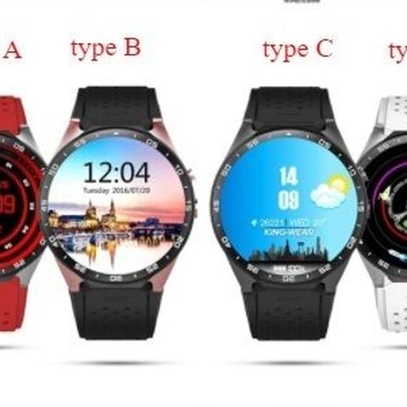 【送料無料!】スマートウォッチ KW88 Android5.1搭載 スマートブレスレット アンドロイド 丸形 腕時計 スマートフォン スマホ【新品】