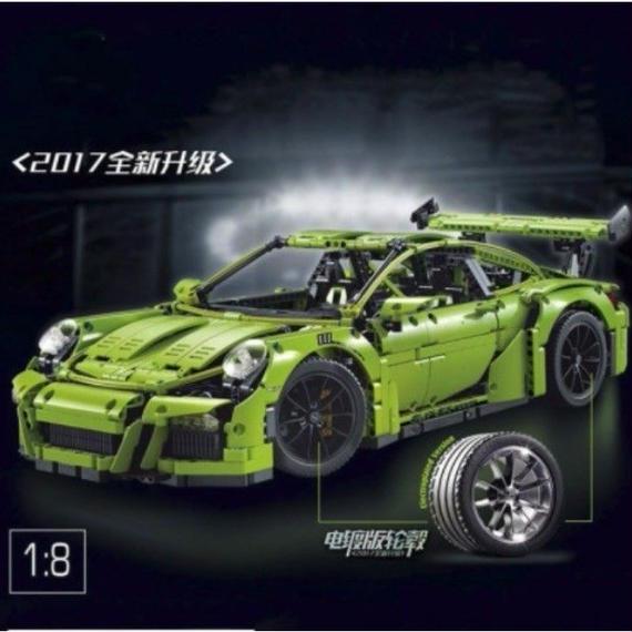 【送料無料!】レゴ互換 テクニックシリーズ ポルシェ 911 GT3 RS グリーン 42056相当【新品】