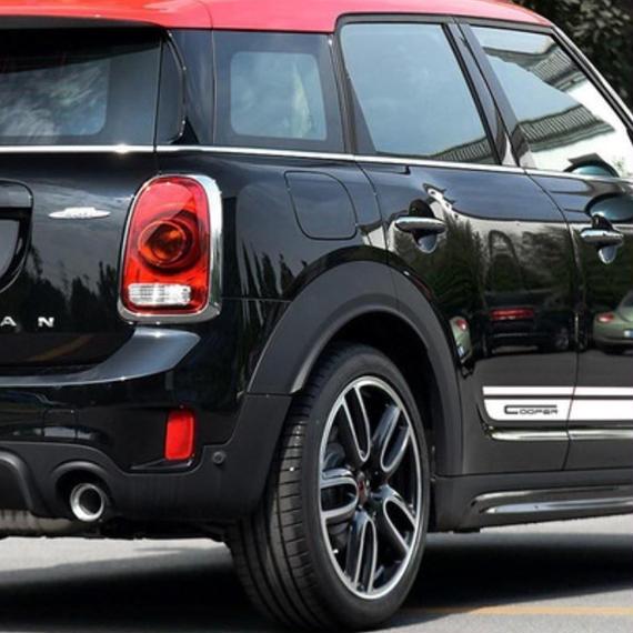 【送料無料!】ミニクーパー ステッカー セット(トランク+エンジン+リアサイド) ストライプ デカール【新品】
