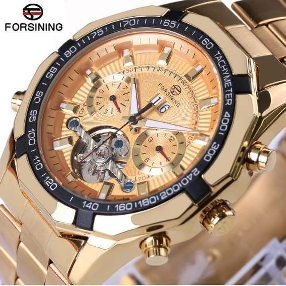 【送料無料!】海外トップブランド ラグジュアリー メンズ トゥールビヨン 自動巻き オートマティック 腕時計【新品】