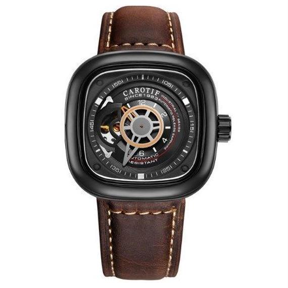 【送料無料!】メンズ 腕時計 高級レザー ビジネス カジュアル ファッション 海外限定ブランド 機械式 【新品】