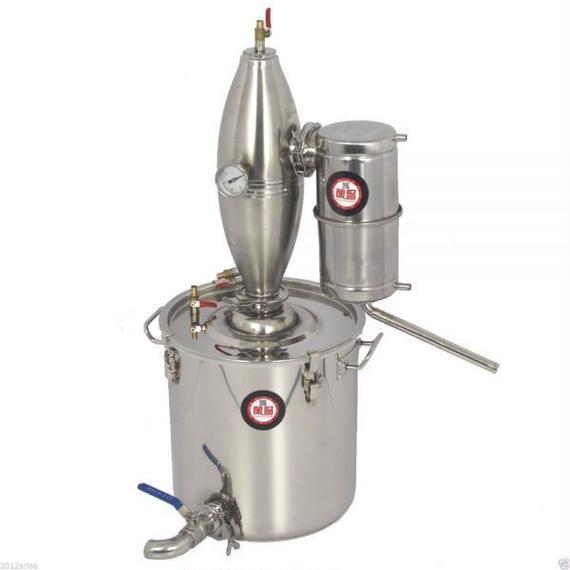 【送料無料】25Lアルコールステンレス蒸留器 ホームブリューキットボイラー ハウスワインビール装置アルコール蒸留器 【新品】