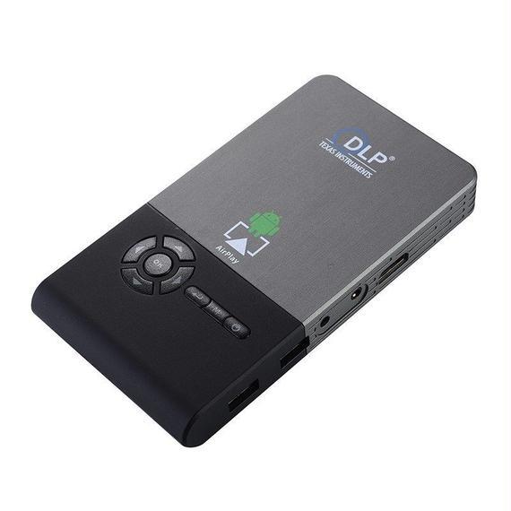 【送料無料!】C2(8G) ミニDLP スマートプロジェクター(ビジネス、ホームシアター)【新品】