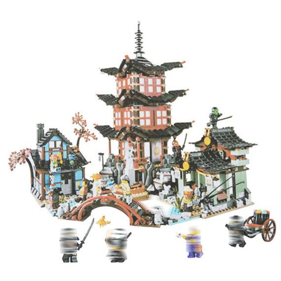【送料無料!】レゴ風 ニンジャゴー エアー術の寺院【新品】