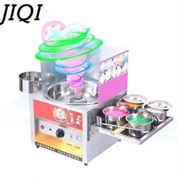 【送料無料!】JIQI 業務用綿菓子メーカー ステンレス ガス【新品】