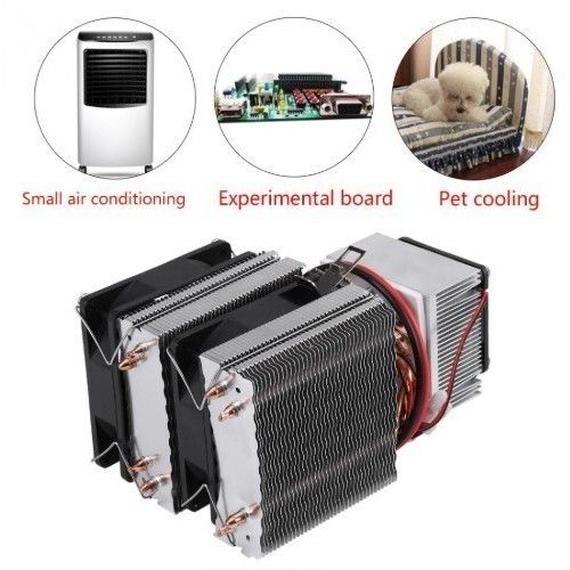 【送料無料!】Dc 12 ボルトペルチェ 冷凍 冷却 空気 冷却 ラジエーター diy 冷蔵庫 クーラー システム 20a 180 ワット 半導体 ミニエアコン【新品】