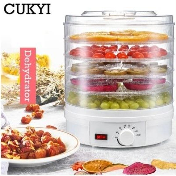 【送料無料!】Cukyi食品脱水機フルーツ野菜ハーブ肉乾燥機スナック食品乾燥機で5トレーeu/英国/米国プラグ110ボルト/220ボルト【新品】