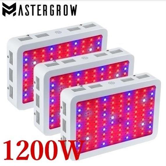 【送料無料!】1200W MasterGrow 屋内 薬用 植物育成 LEDライト お得 3ピース セット 栽培 全波長 多肉植物 ランプ パネル ガーデン【新品】