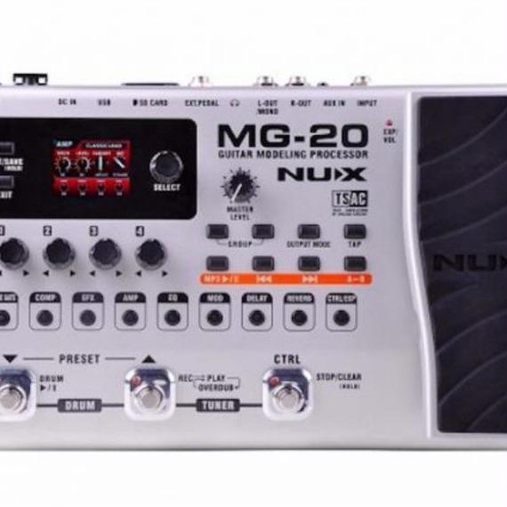 【送料無料!】ギターモデリングプロセッサーNUX MG-20 スイッチペダル ソロ オーディオ 機器 バンド音楽【新品】