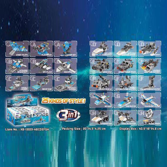 【送料無料!】Xingbao 13001新しいおもちゃ8で1シリーズ宇宙戦艦セットブロックレンガのおもちゃ子供誕生日クリスマスギフト【新品】