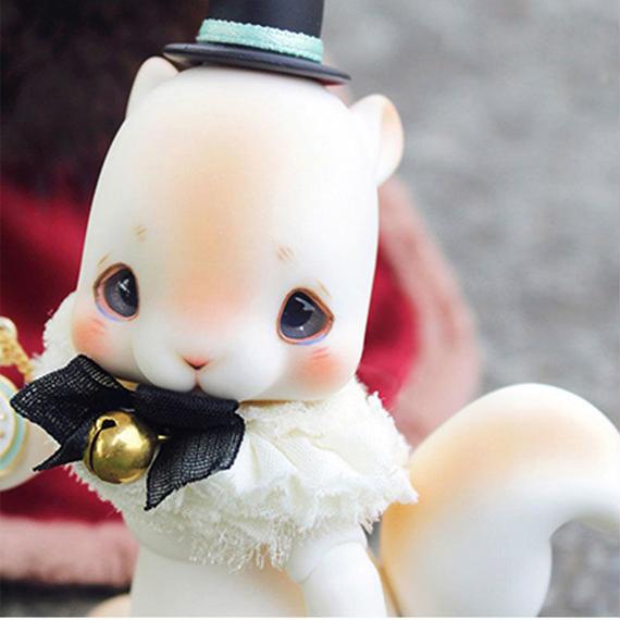 【送料無料!】球体関節人形 BJD 本体+眼球 1/12 リス【新品】