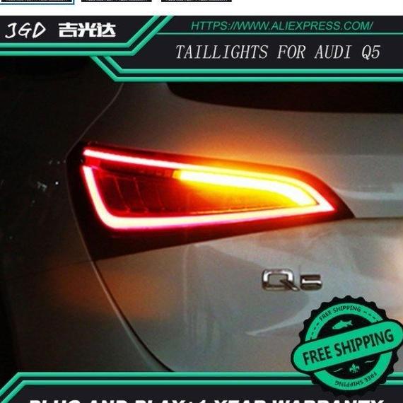 【送料無料!】LED テールランプ アウディQ5 (2009-2015) ブレーキランプ ターンランプ リアトランクランプカバー カースタイリングテールライト【新品】