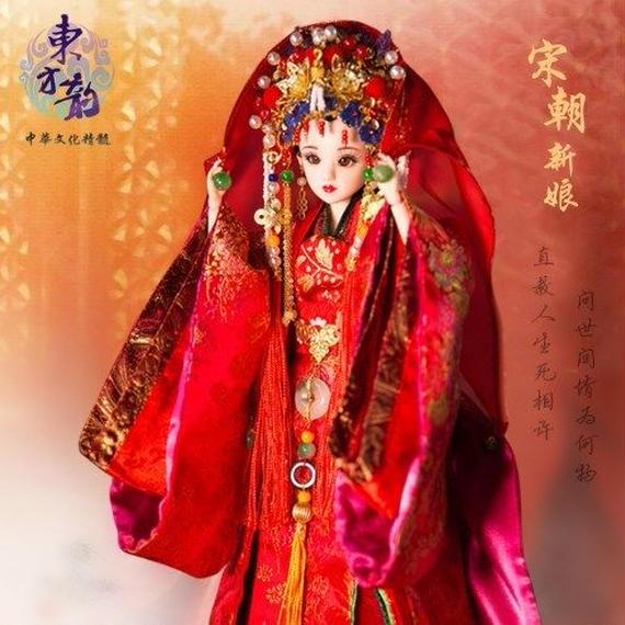 中国人形 キャラクタードール ウェデイング 華やか 花嫁 女の子 お祝い プレゼント ハンドメイド 伝統 文化 歴史 着物