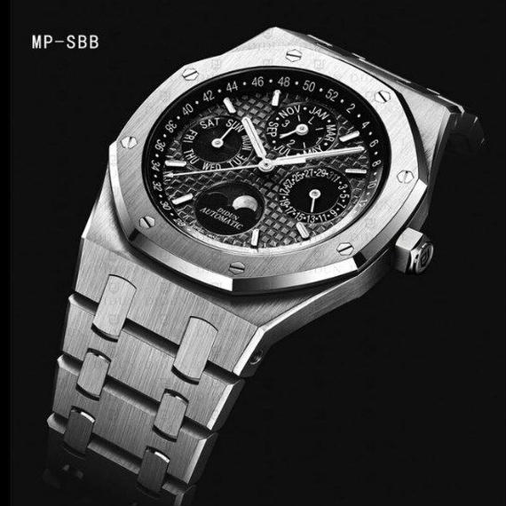 【送料無料!】日本未発売 DIDUN 自動巻き 機械式腕時計 ミリタリー ムーンフェイズ 日本ミヨタ製ムーブ搭載 防水 MP-SBB【新品】
