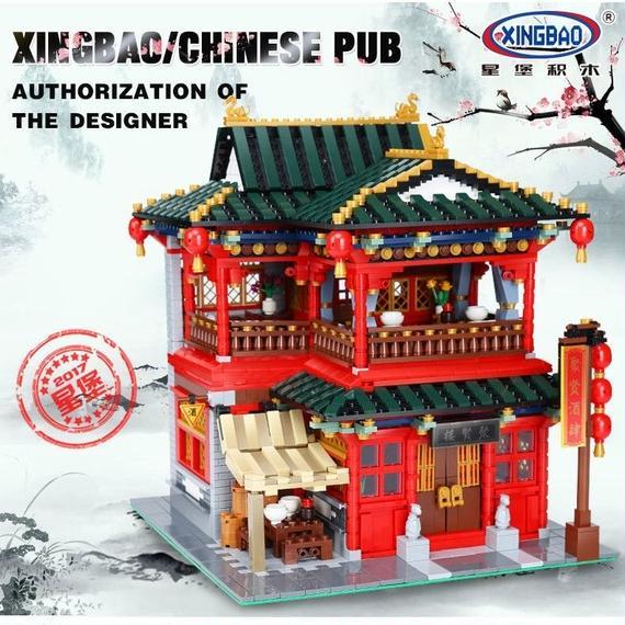 【送料無料!】XINBAO MOCシリーズ 中国の居酒屋セット ( 海外製品 )◆ レゴブロック 互換 ◆【新品】