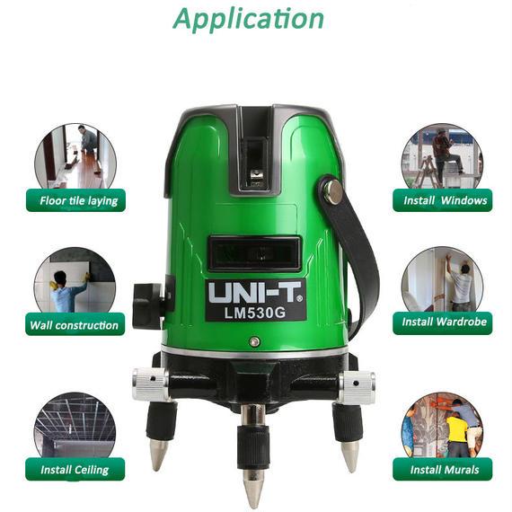 【送料無料!】【高品質】高輝度グリーンレーザー532mn 3ライン 墨出し器 光学測定器 360°回転 LM530G 【新品】