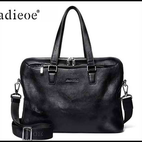 【送料無料!】Y-bag PADIEOE贅沢レザーメンズビジネスバッグ 本革 黒【新品】