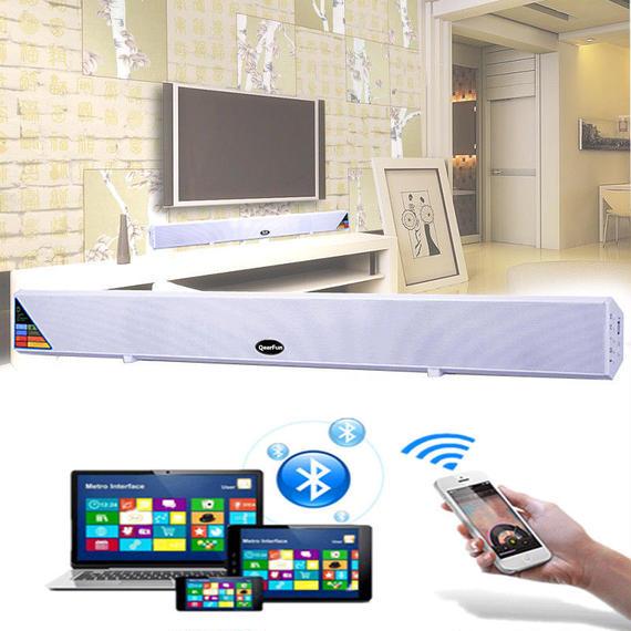 【送料無料!】Bluetooth TVサウンドバー ホームシアターシステム サラウンド ワイヤレス USBスピーカー サブウーファー【新品】