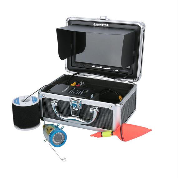 30M GAMWATER 7インチモニター 1000tvl 水中カメラ カメラキット 12白色LEDライト 釣りカメラ フィッシング 魚群探知機