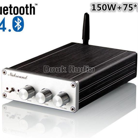 【送料無料!】Nobsoundミニ2.1チャンネルサブウーファーデジタルアンプステレオハイファイのBluetooth 4.0パワーアンプ150W + 75 * 2W【新品】