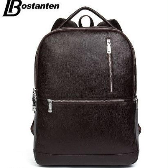 【送料無料!】リュック メンズ 本革 バックパック ノートパソコン 学校用 Bostanten【新品】