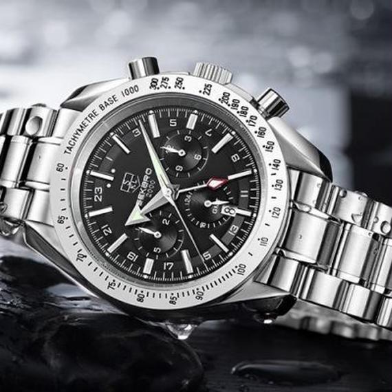 ●SEKARO● 機械式高級腕時計 メンズ 自動巻 防水 ファッション ブラック