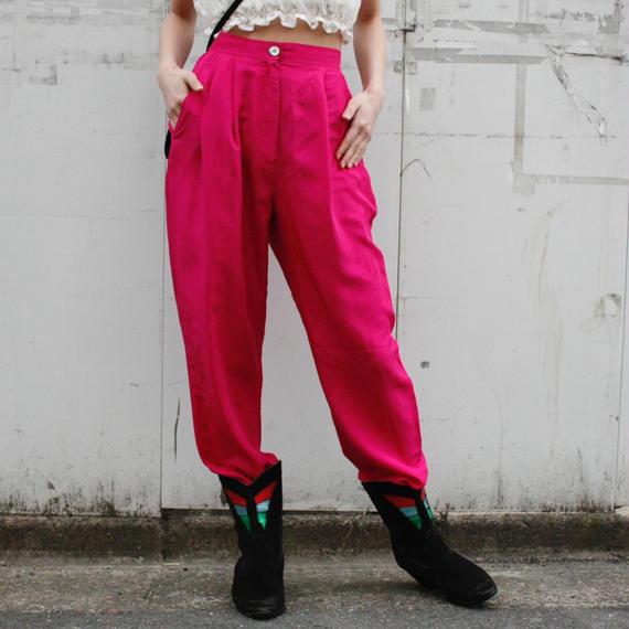 Pink Silk pants / ピンクシルクパンツ