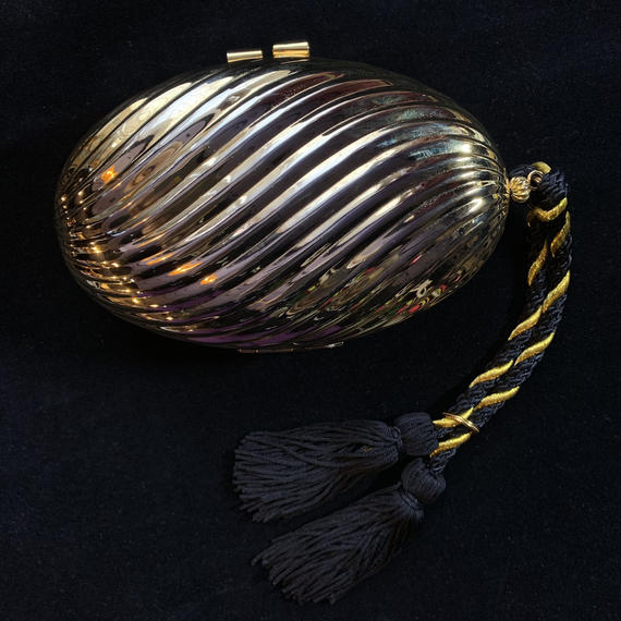 Vintage Gold circle clutch bag / ゴールドクラッチバッグ