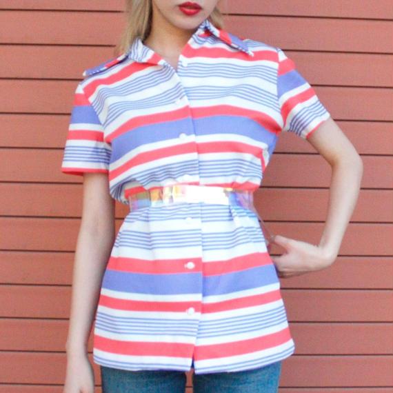 【Vintage】1970's vintage border shirt / ボーダーシャツ