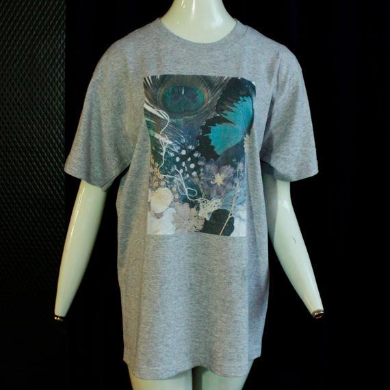 【fan C future】羽根T Shirt  / gray